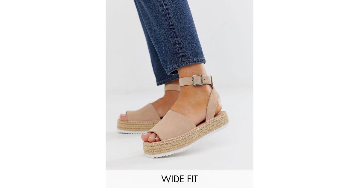 wide fit flatform espadrilles