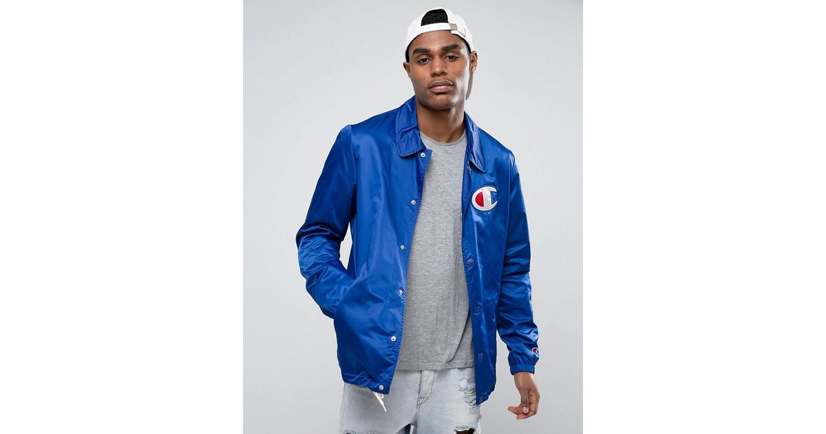 to buy cheapest attractive & durable Champion Blue Coach Jacket With Large Logo for men