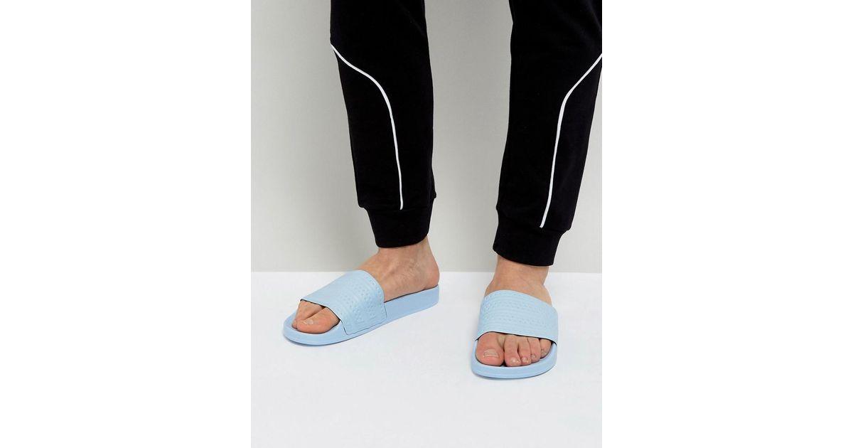 45146bd999eb Lyst - adidas Originals Adilette Easy Blue Pool Sliders - Mens Uk 8 in Blue  for Men - Save 51%