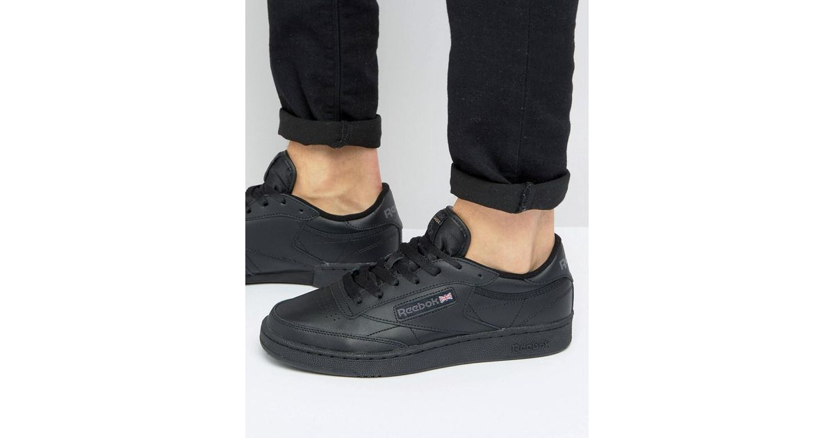 22735848c069 Reebok Club C Leather Trainers In Black Ar0454 in Black for Men - Lyst