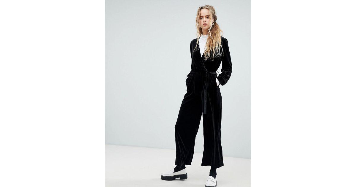 aacf6b871b8 Lyst - Dr. Denim Velvet Jumpsuit in Black