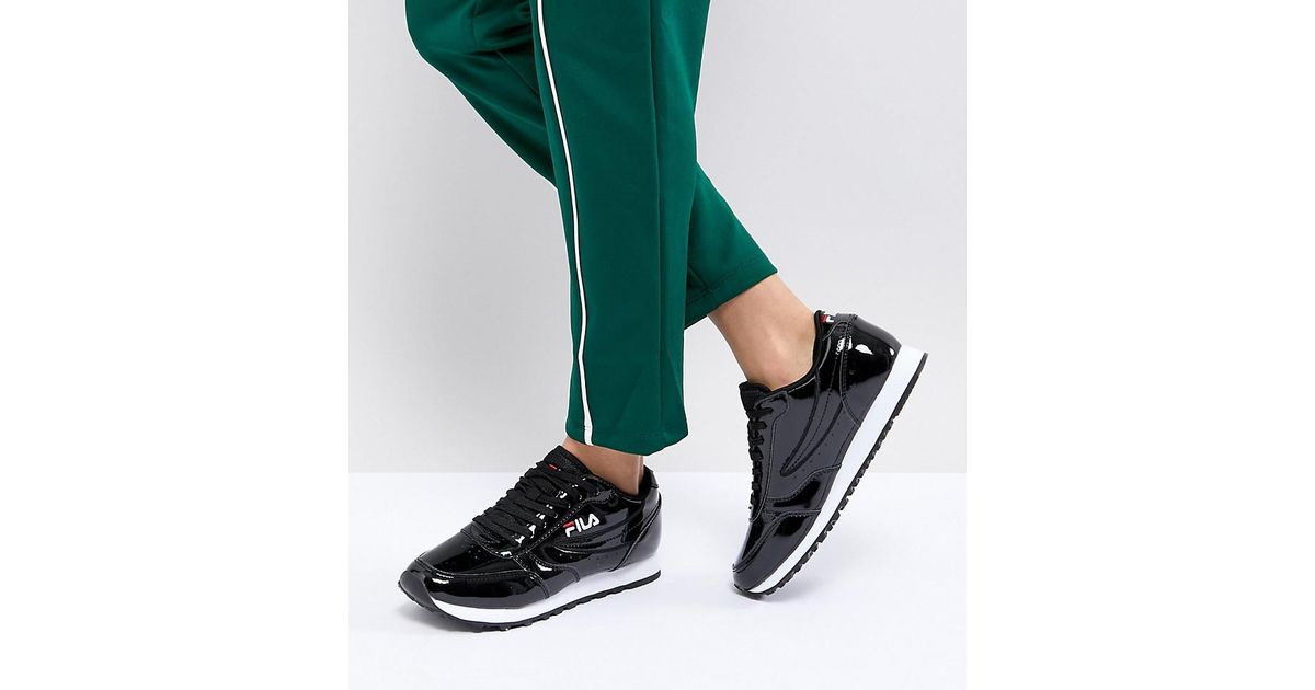 unequal in performance best collection selected material Fila Orbit Trainers In Black Patent