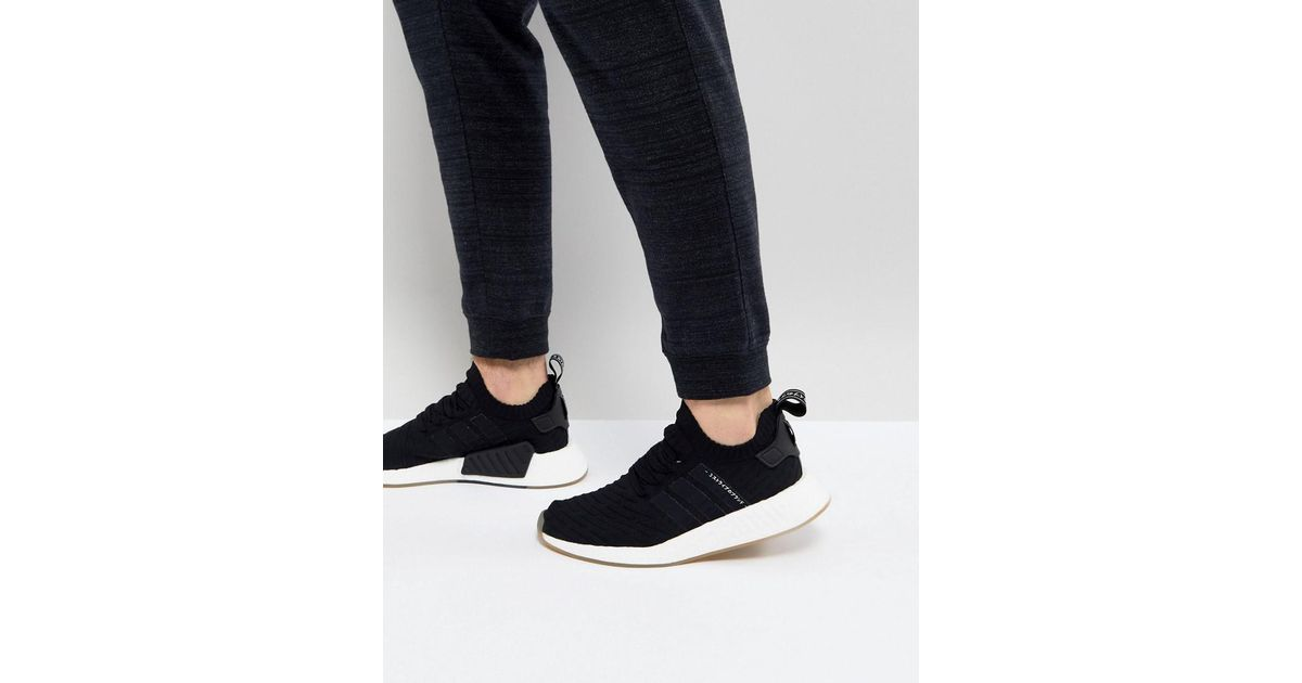 quality design 7f5e0 04e3a Adidas Originals Nmd R2 Primeknit Sneakers In Black By9696 for men