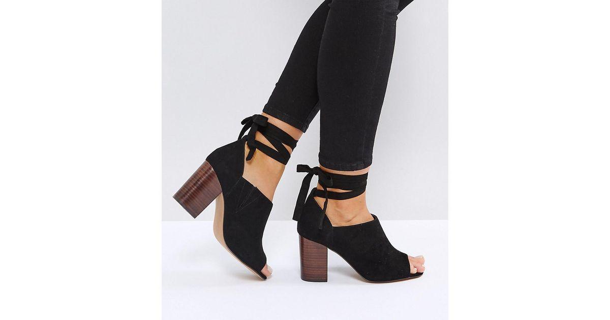 Pick A Best Cheap Online OMEN Wide Fit Tie Leg Heeled Shoes - Black Asos Buy Cheap Clearance Store Dm4EkBm