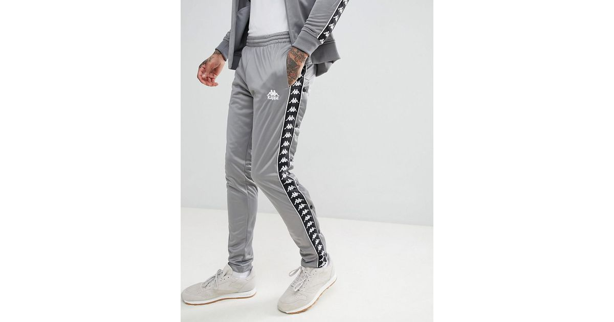 e59b3d3a29 Kappa Joggers With Side Taping In Gray for men