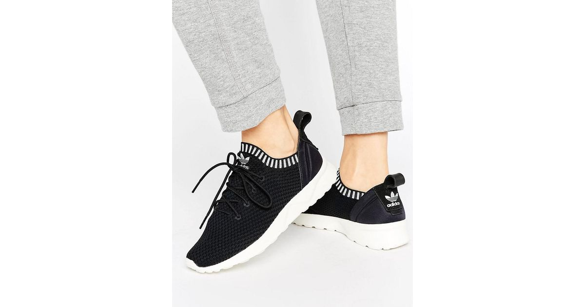 buy popular 2e0ac 92e3a Adidas Originals Black Zx Flux Adv Virtue Performance Sneakers