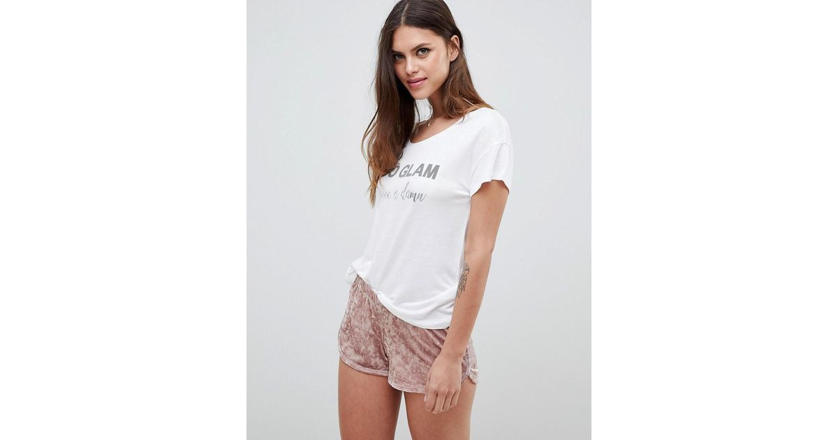 Womens Pajama Set Velvet Pink Mauve Shorts Pjs Ladies
