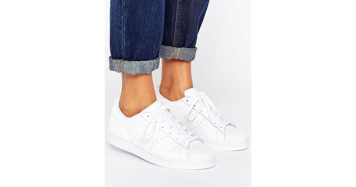 Lyst Adidas Originali Originali Fondamenta Tutto Bianco Superstar