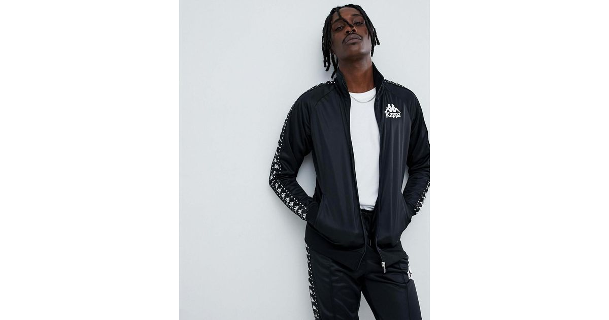 c93ddc18c Kappa Track Jacket With Logo Taping In Black for men