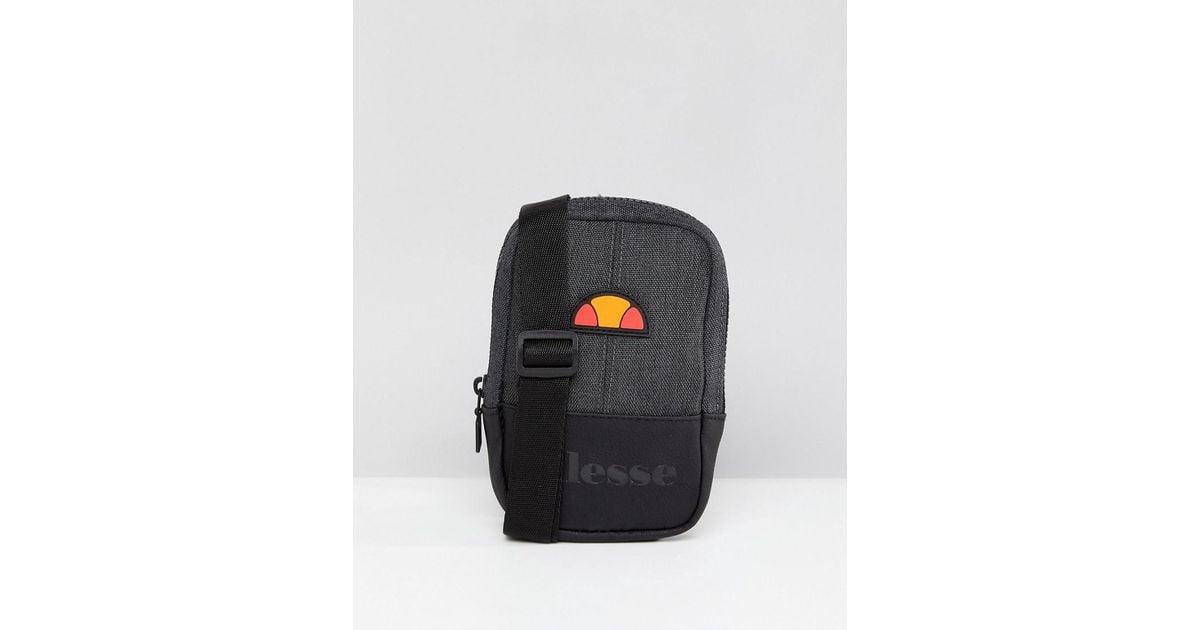 15847b7c38 Lyst - Ellesse Flight Bag With Logo In Black in Black for Men
