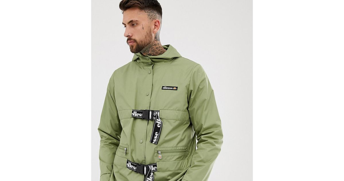 san francisco large assortment latest selection of 2019 Ellesse Samuele Recycled Jacket With Buckle Fastening In ...