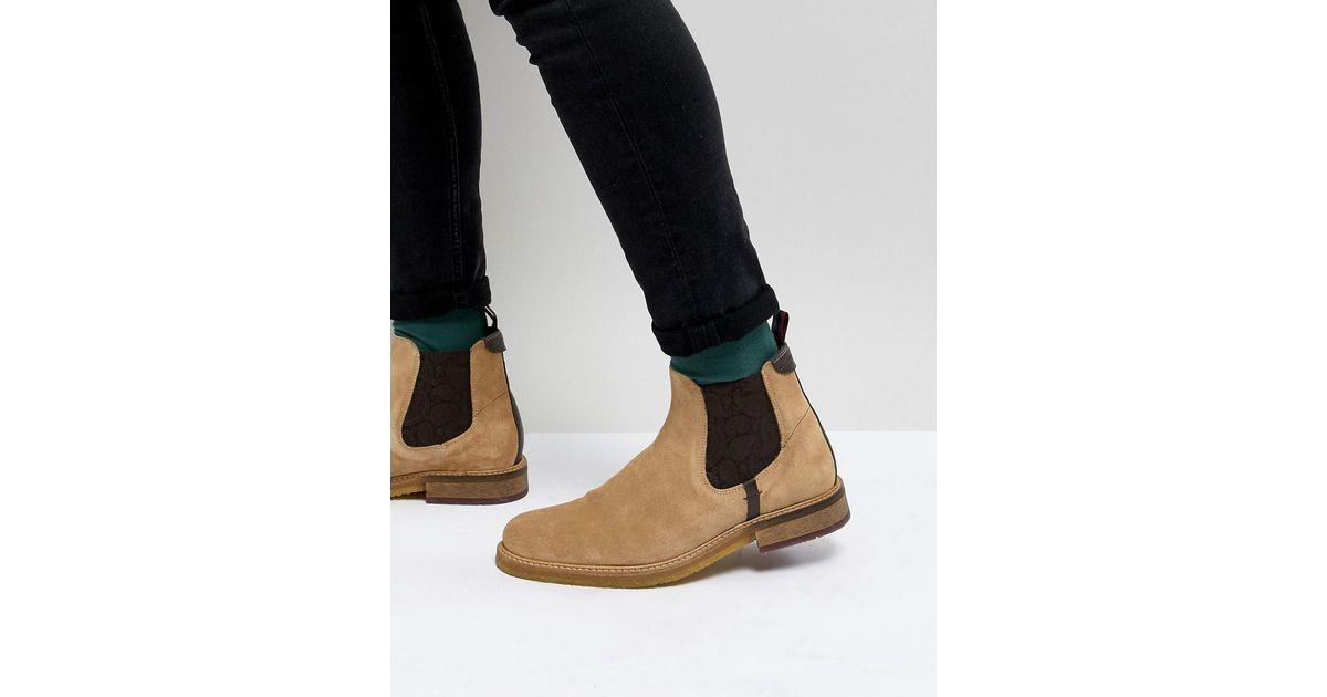 Ted Baker Bronzo Chelsea Boots In Beige