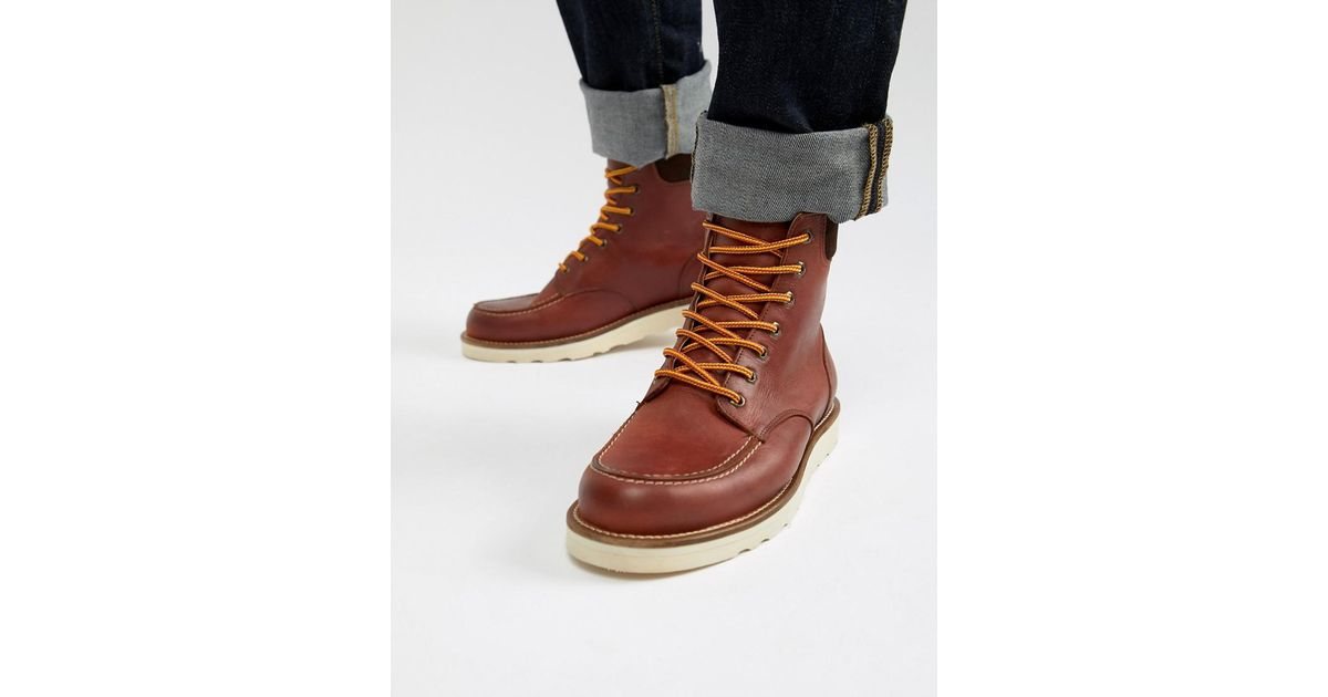 b948d6e6b25 Office Idyllic Hiker Boots In Red Leather for men
