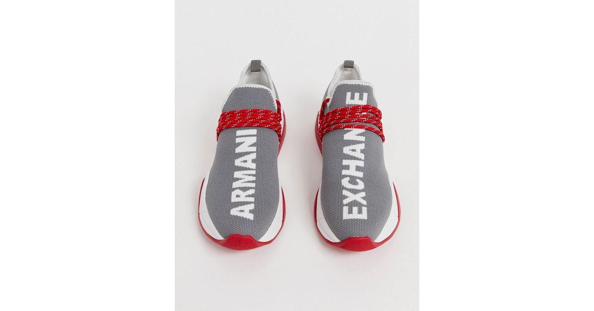 Armani Exchange Denim Running Sneaker