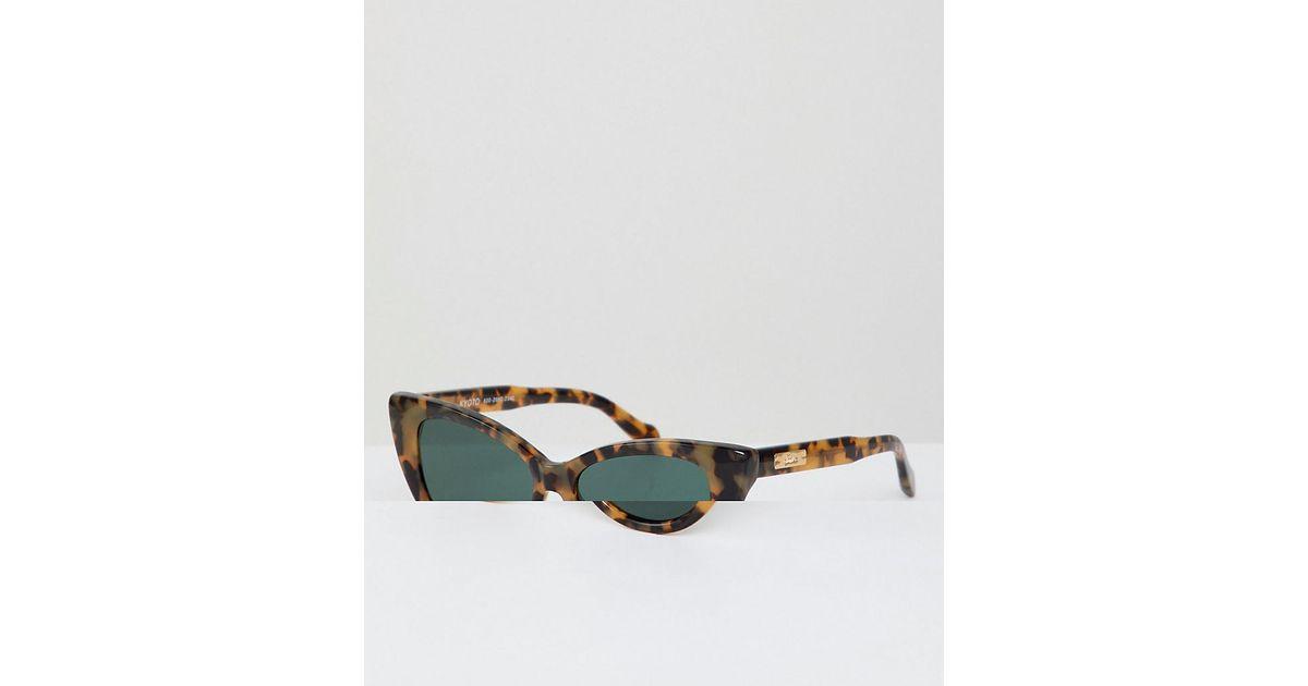 51ecfef3ff070 Sonix Kyoto Cat Eye Sunglasses In Tort in Brown for Men - Lyst