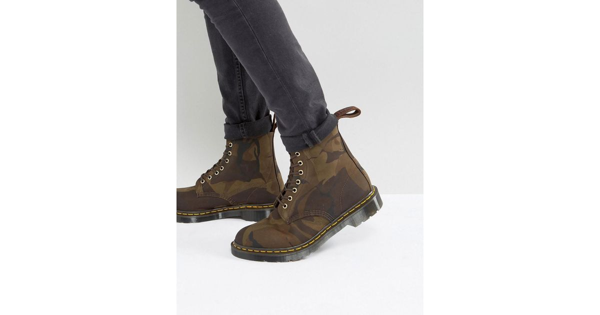 d5d7c912273ca Dr. Martens Made In England Pascal Camo 8-eye Boots in Green for Men - Lyst