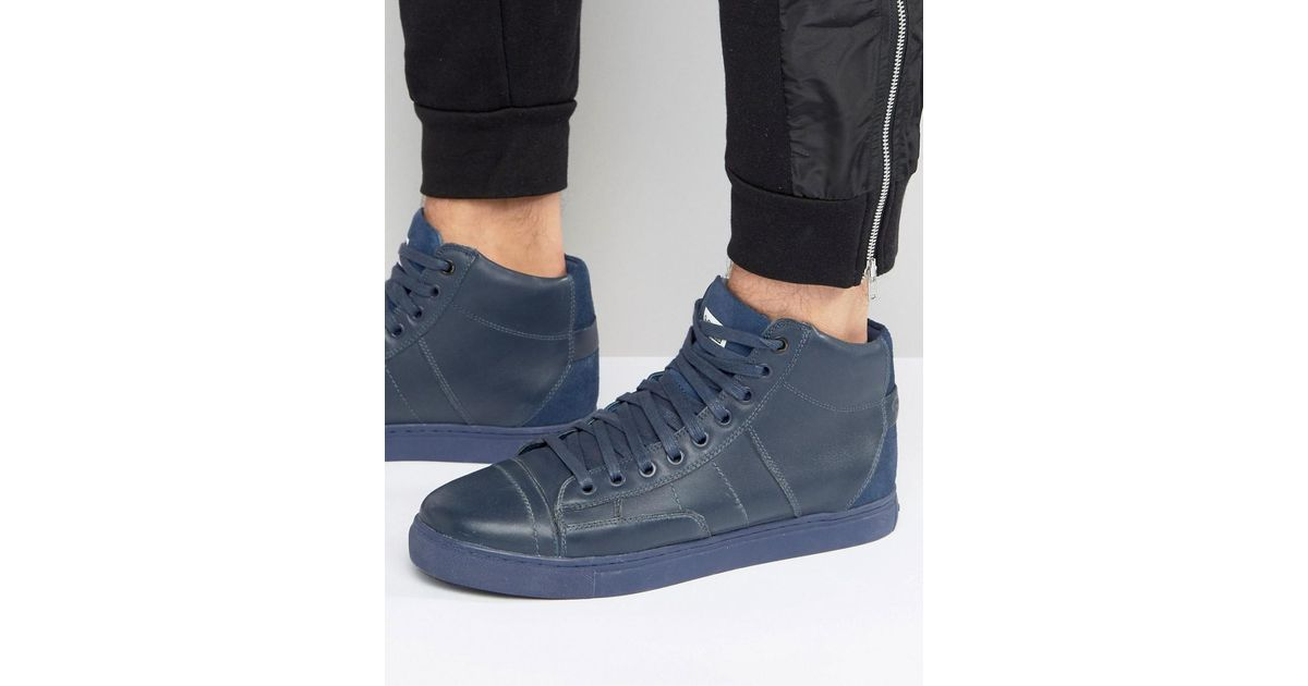 61300b048807 G-Star RAW - Blue Stanton High Sneakers In Navy for Men - Lyst