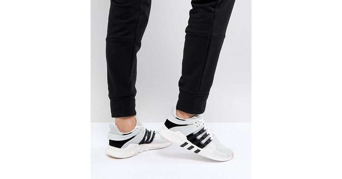 buy popular eb8f5 84619 Adidas Originals Gray Originals Eqt Support Adv Sneakers In Grey