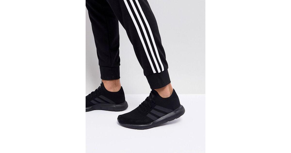 a41e1b89e31 Adidas Originals Swift Run Primeknit Sneakers In Black Cq2893 for men