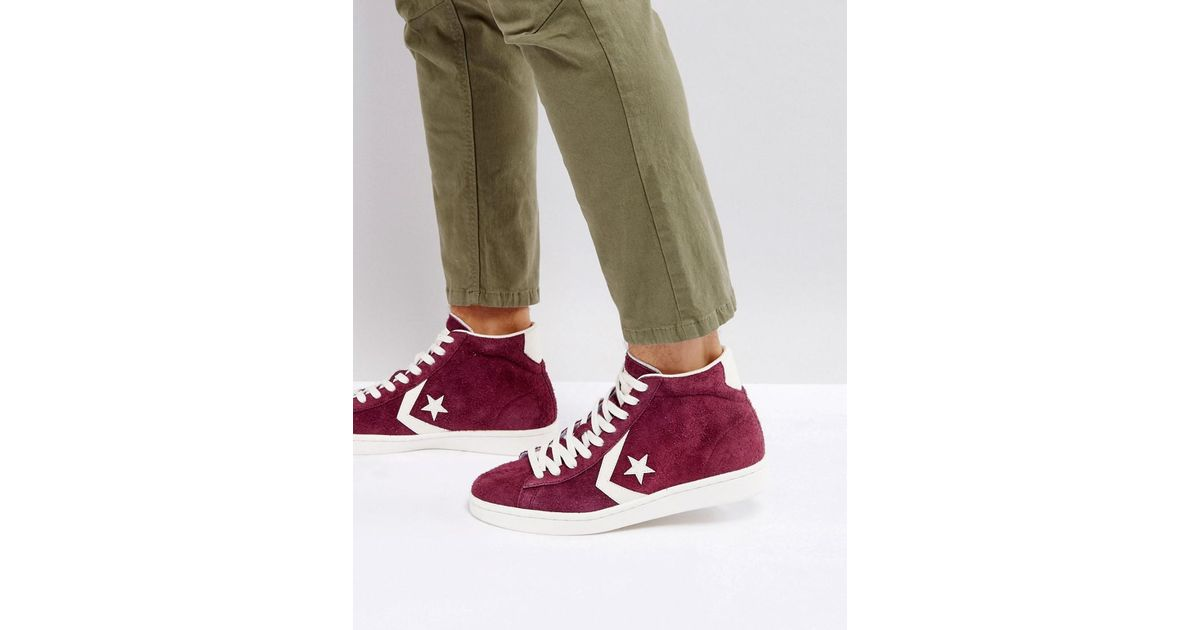 Lyst - Converse Pro Leather 76 Mid Sneakers In Purple 157691c626 in Purple  for Men 6c68644f1