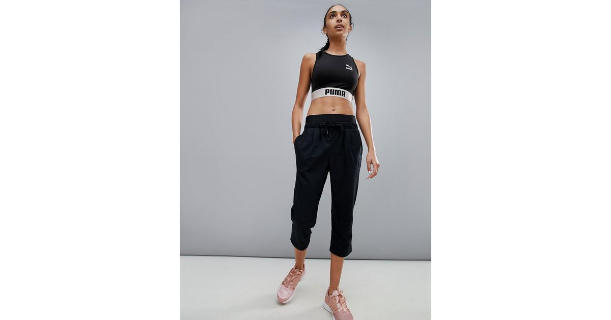 28b4035ca861 Lyst - PUMA Active Essential 3 4 Banded Trousers in Black