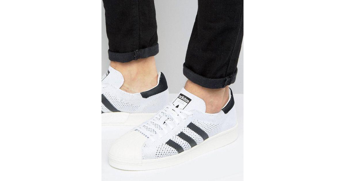 best service d95b7 f1722 adidas Originals Superstar Boost Primeknit Sneakers In White Bb0190 in  White for Men - Lyst