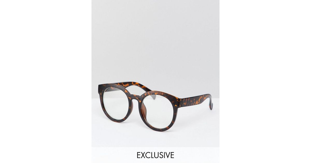 25317c4adb0 Lyst - Reclaimed (vintage) Inspired Round Clear Lens Glasses In Tort  Exclusive To Asos in Brown for Men