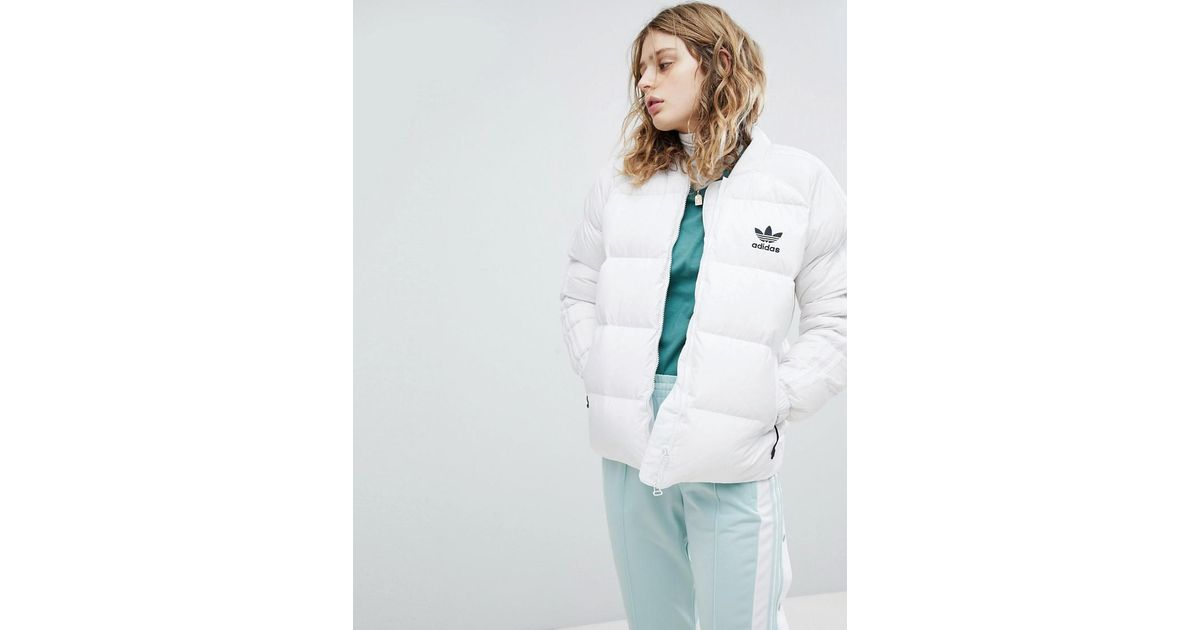 1f6d2724a Adidas Originals White Originals Down Filled Padded Jacket