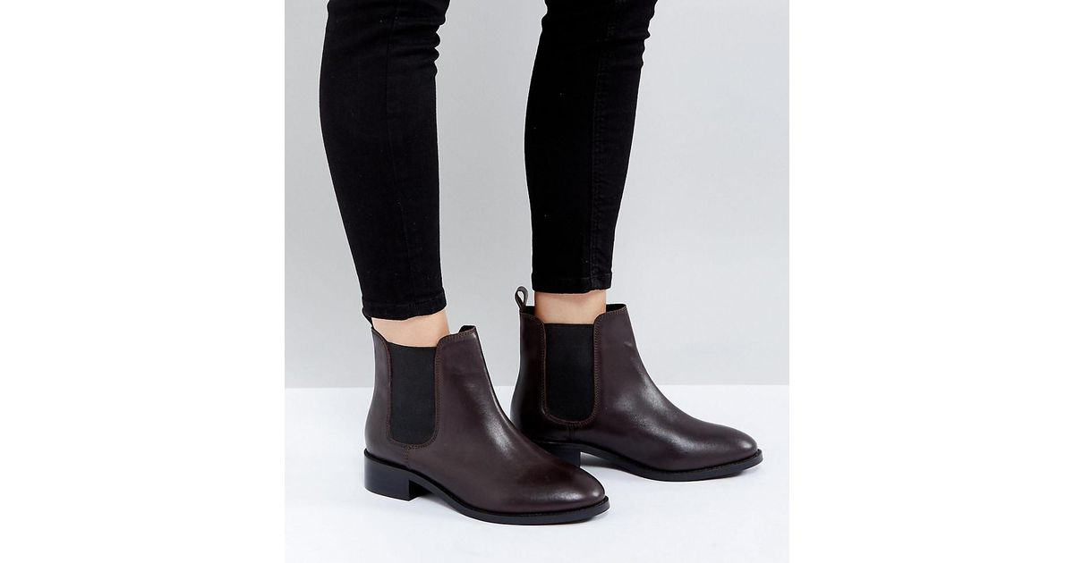 ASOS Absolute Wide Fit Leather Chelsea