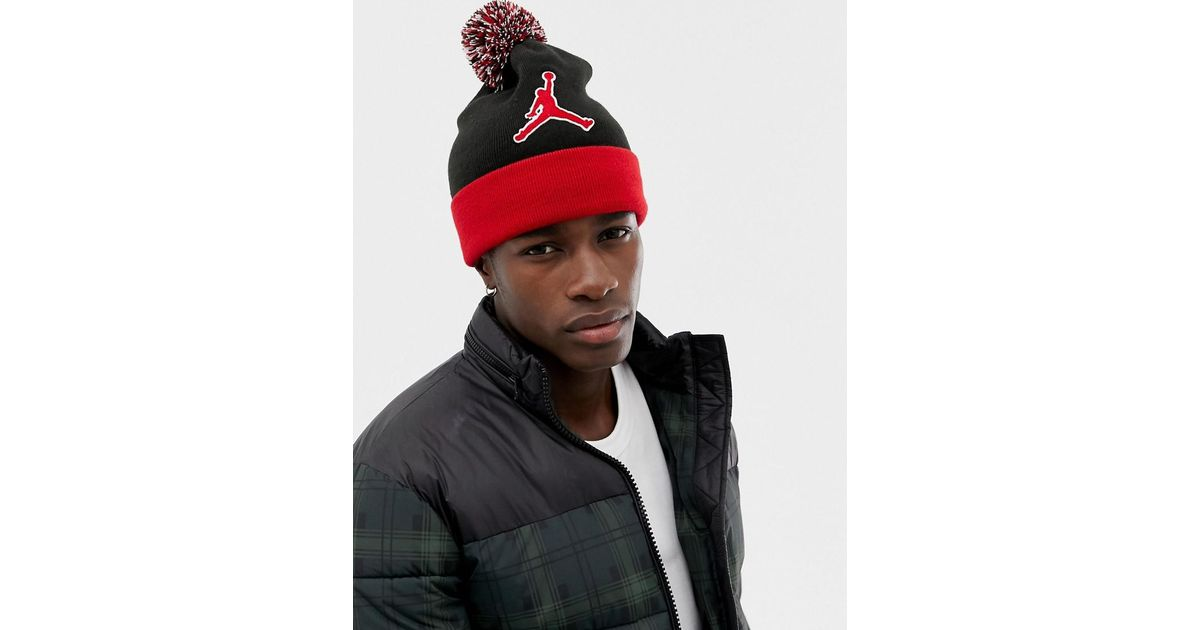 e955ae83c088 Nike Nike Jumpman Beanie In Red Aa1302-010 in Red for Men - Lyst