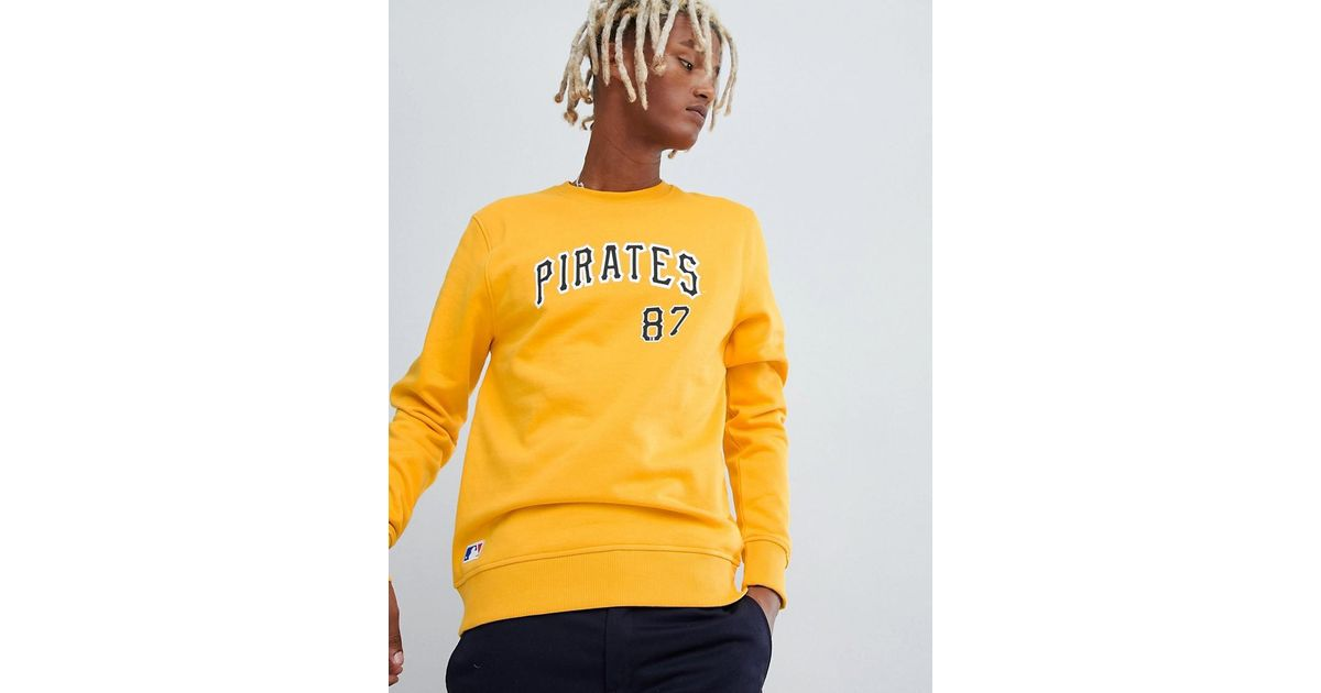 brand new e68d4 89467 KTZ Mlb Pittsburgh Pirates Sweatshirt With Arch Logo In Yellow for men