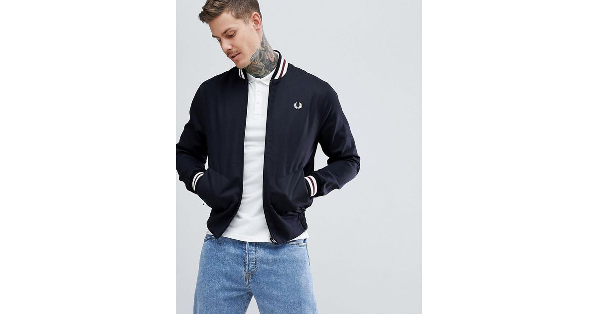 3e0261286 Fred Perry Reissues Made In England Tennis Bomber Jacket In Black for men