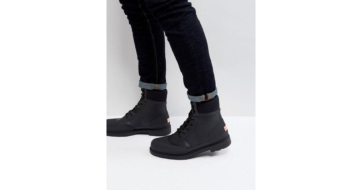 d882248ef01 Hunter Black Original Commando Lace Up Boots for men