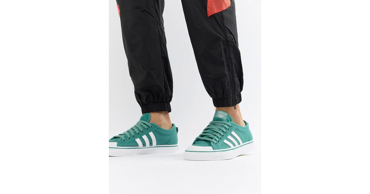 084c67f03e1b95 adidas Originals Nizza Trainers In Green Cq2329 in Green for Men - Lyst