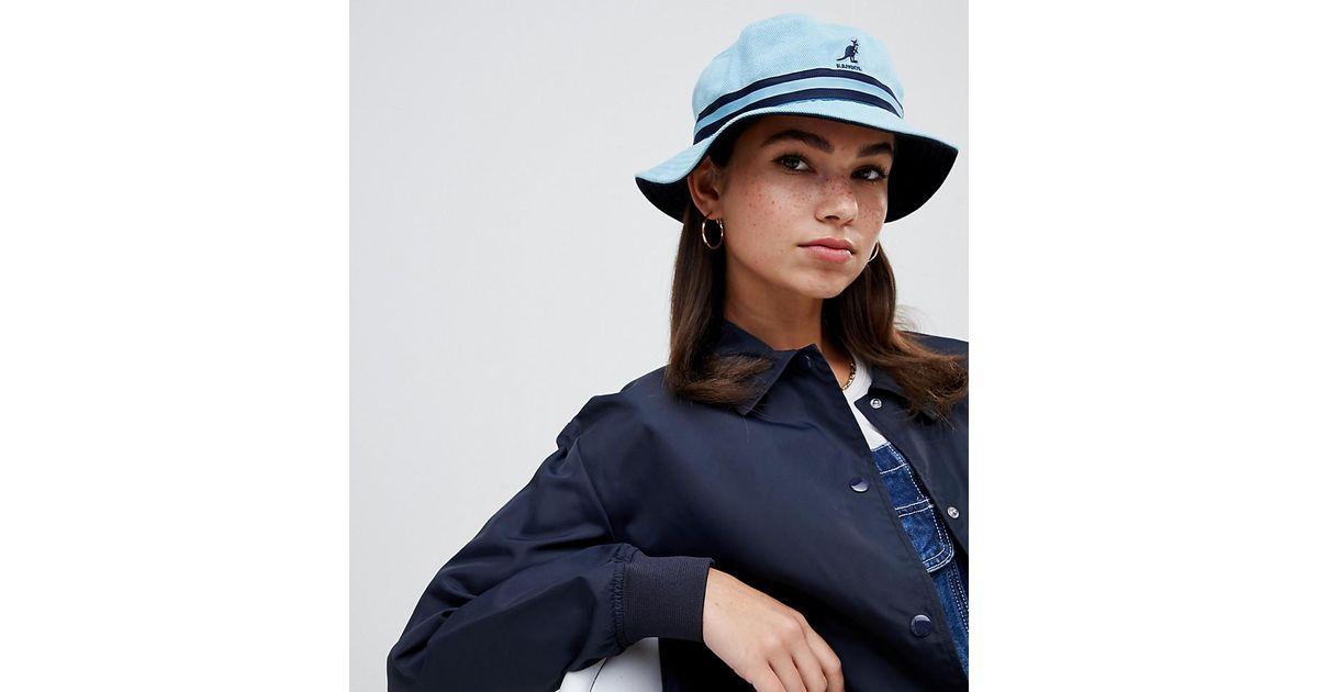 b8ea702f0 Kangol Striped Bucket Hat In Baby Blue