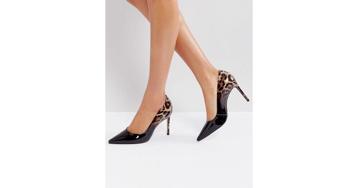 b667ecf83e6 Carvela Kurt Geiger Black Alison Leopard Print Court Shoes