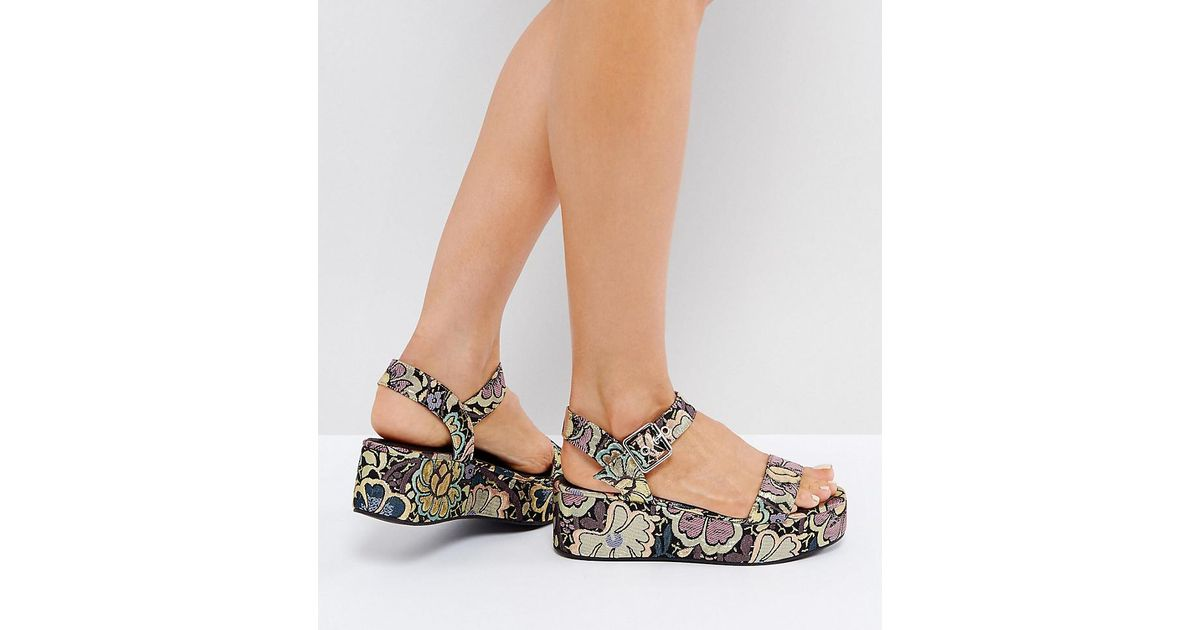 2001b4e475c0 Lyst - ASOS Toucan Wedge Sandals