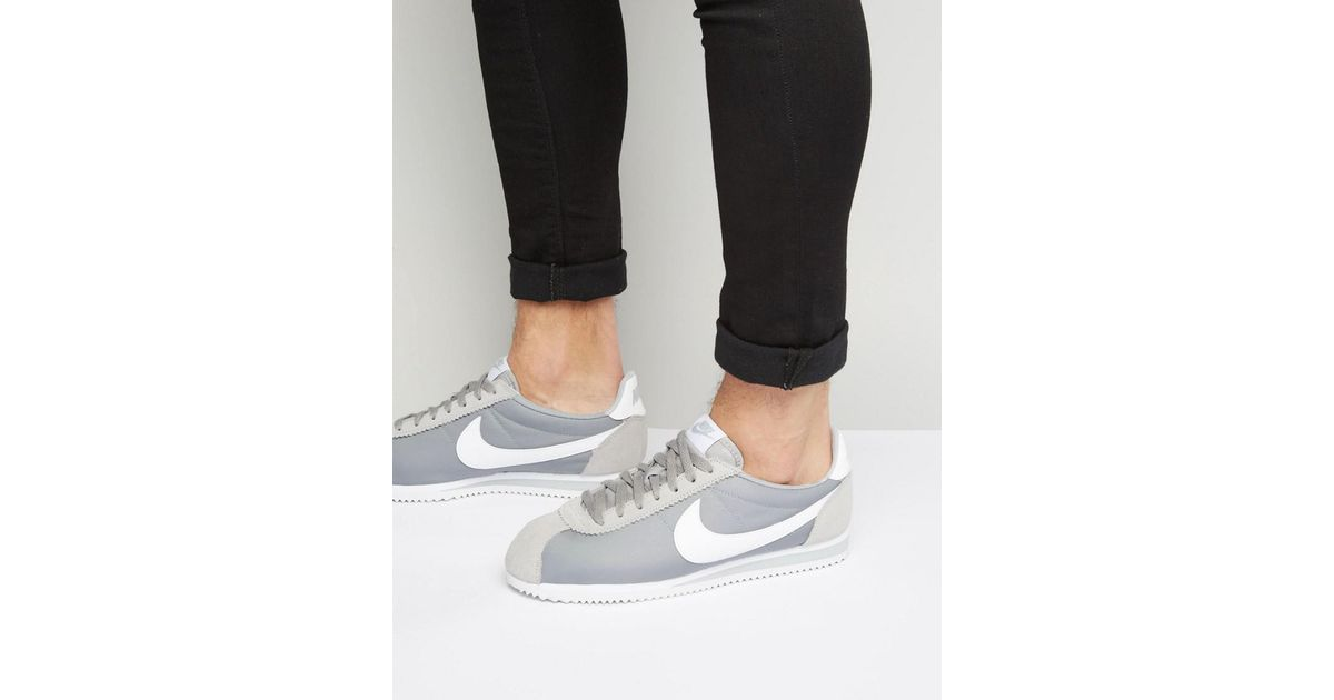 size 40 647ee f433b Nike Classic Cortez Nylon Sneakers In Gray 807472-010 for men