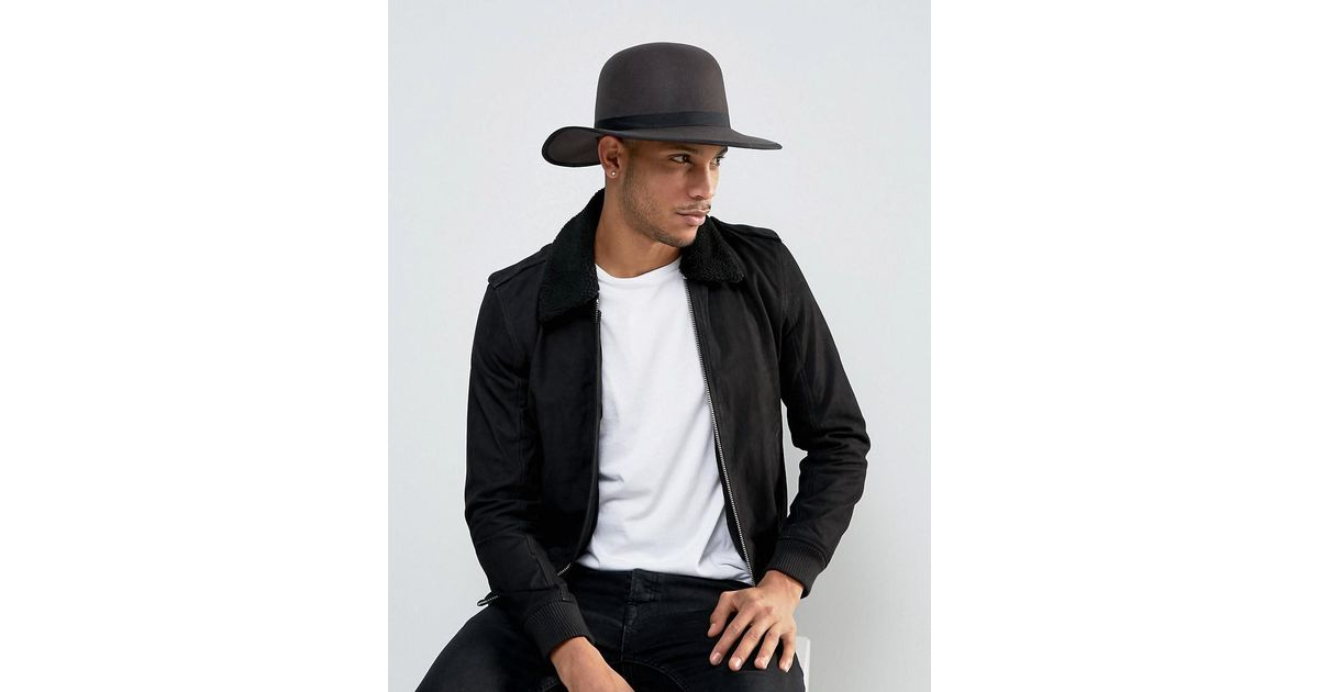 a1003cad7574f ... hot lyst brixton sonoma hat with wide brim in gray for men 976fc f3793