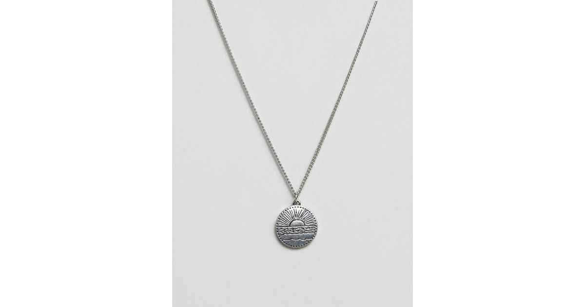 Lyst classics 77 disc pendant necklace in antique silver in lyst classics 77 disc pendant necklace in antique silver in metallic for men mozeypictures Image collections
