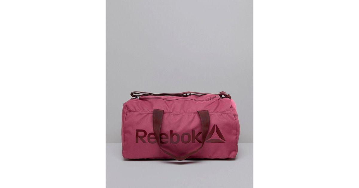 d1a25be303 Reebok Gym Bag In Berry in Purple - Lyst