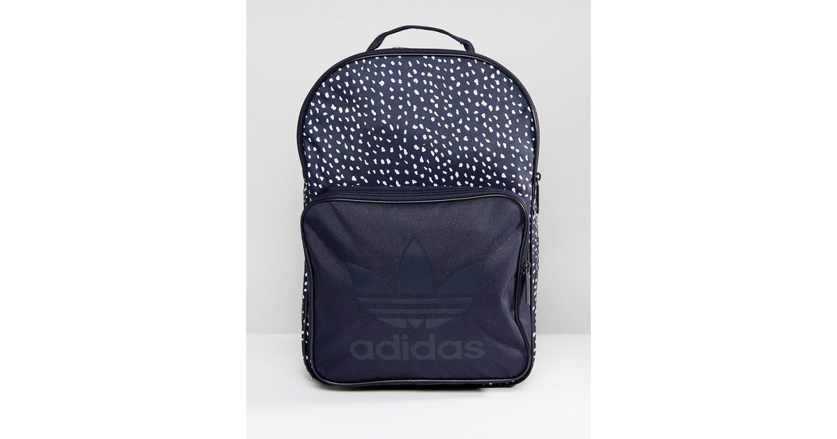 Lyst - adidas Originals Graphic Backpack In Blue Ab3889 in Blue for Men 5aecaa51c1f15