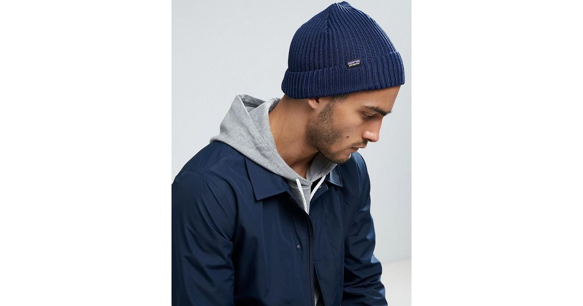 7d66a9d1677 Patagonia Fishermans Rolled Beanie In Navy in Blue for Men - Lyst