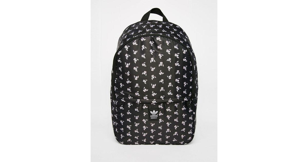 a363d8dbd66 adidas Originals Originals Rita Ora Puppy Print Backpack in Black - Lyst