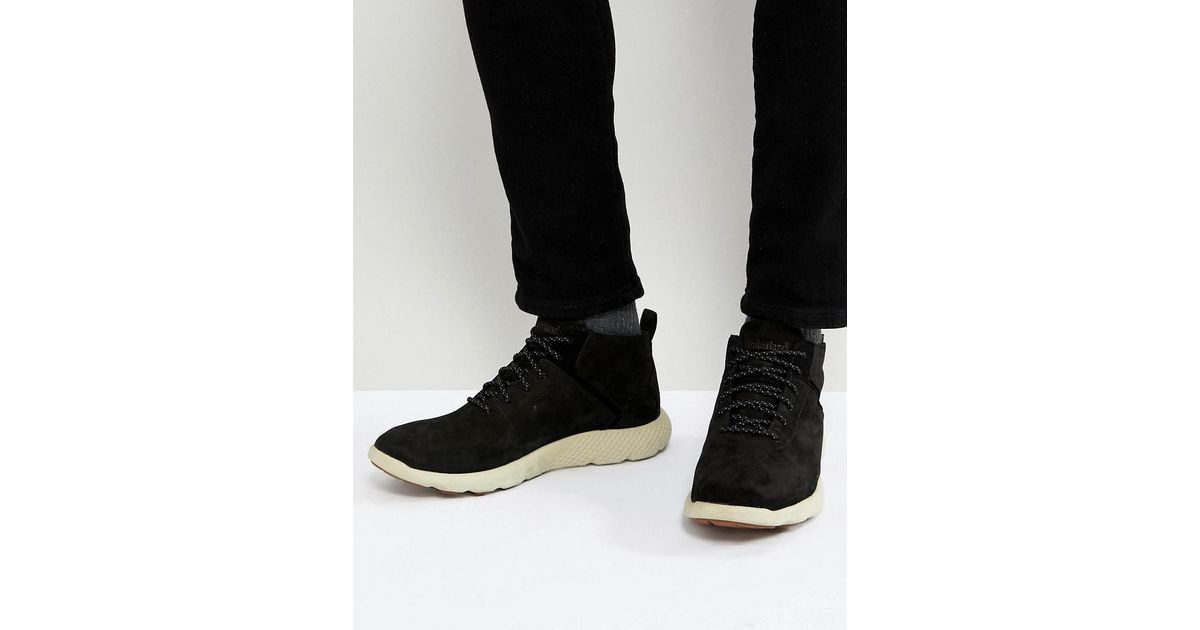 0b9e16ce891 Timberland Flyroam Super Ox Nubuck Sneakers in Black for Men - Lyst