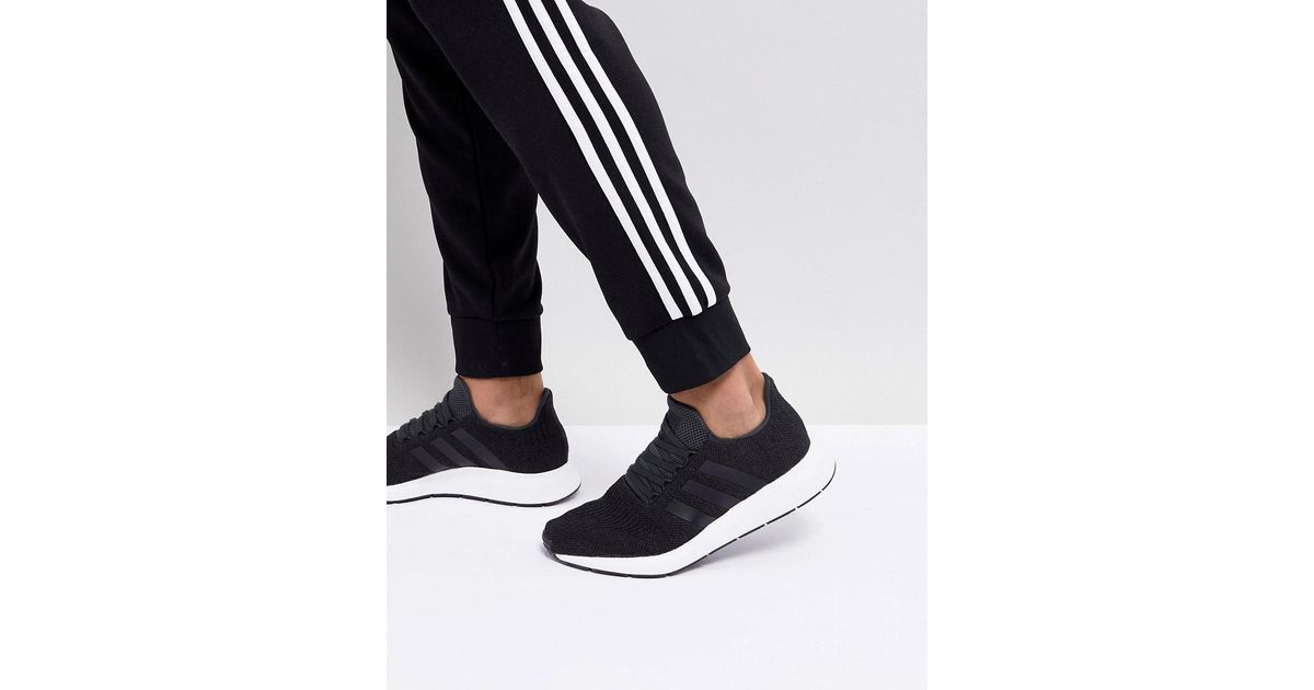 bd4d659ad7fba Lyst - adidas Originals Swift Run Trainers In Black Cq2114 in Black for Men