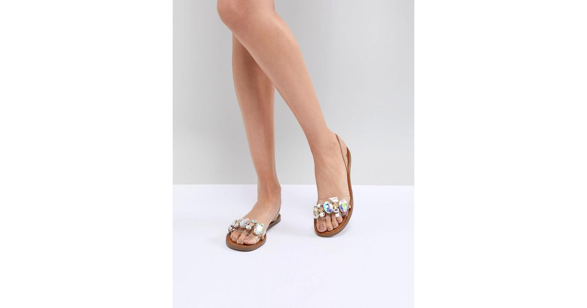 2f9873d0b08 Steve Madden Natural Alice Embellished Flat Sandals