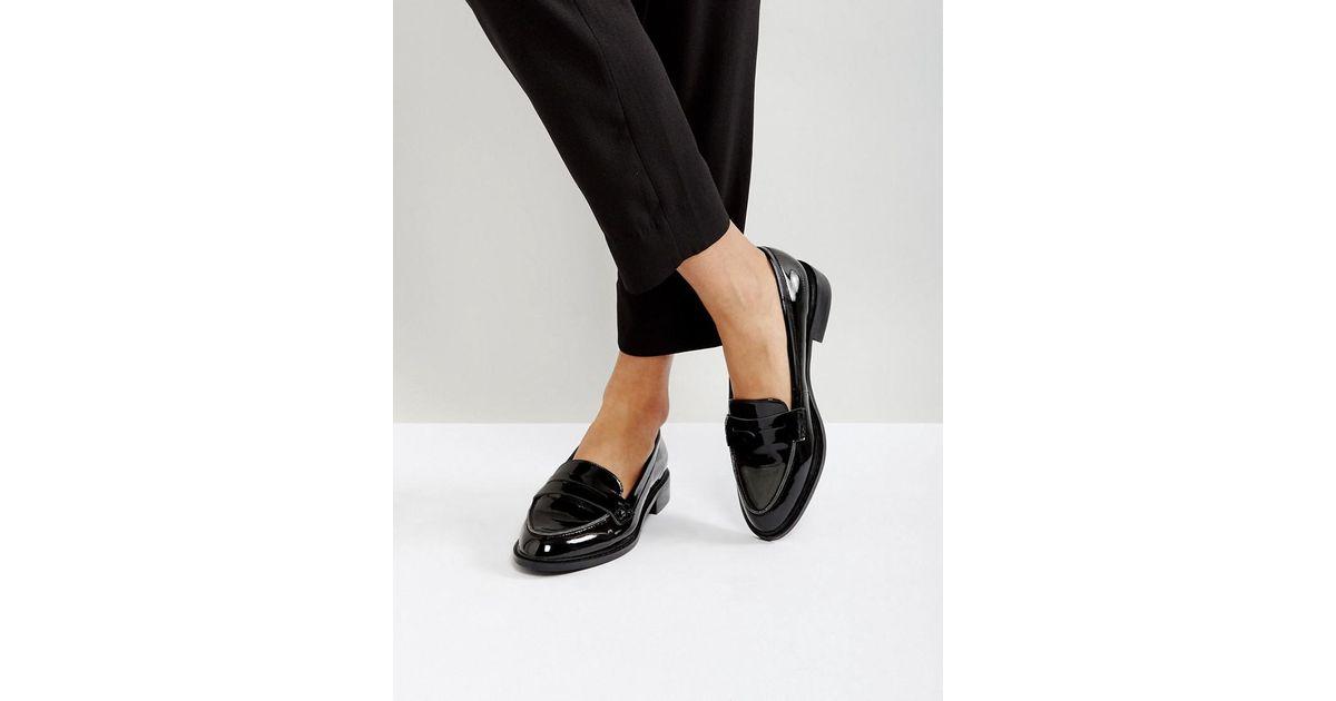 606351aaf40b Lyst - ASOS Asos Munch Loafer Flat Shoes in Black