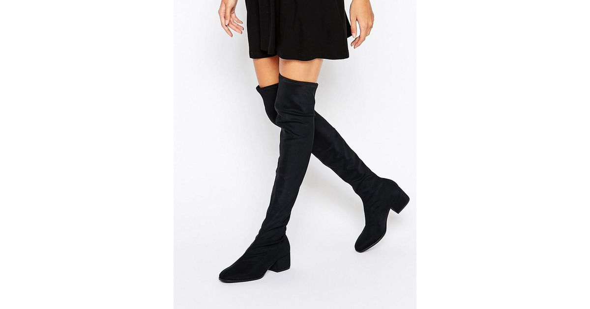 3d21ef59288 Lyst - Vagabond Daisy Over The Knee Boots - Black in Black