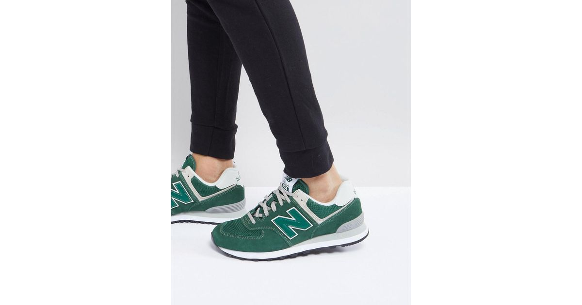 official photos 7e9ca 56e94 New Balance 574 Trainers In Green Ml574egr for men